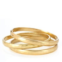 Jewelry & Accessories | Fashion Jewelry | Gold-Tone Hammered Bangle Bracelet Set | Lord and Taylor