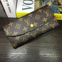 LV Women Shopping Leather Handbag Tote Wallet Bag Yellow G-MYJSY-BB