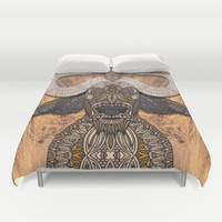 African Buffalo Duvet Cover by ArtLovePassion