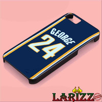 "Adidas NBA Indiana Pacers 24 Paul George Jersey for iphone 4/4s/5/5s/5c/6/6+, Samsung S3/S4/S5/S6, iPad 2/3/4/Air/Mini, iPod 4/5, Samsung Note 3/4 Case ""002"""