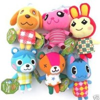 Nintendo Animal Crossing Plush Set of 6 None-talking Includes: Stitches , Rosie , Goldie , Bluebear , Bunnie & Peanut
