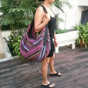 Cross Body Bag Tribal Hmong Woven Backpack Boho Hippie Indian Ethnic Rucksack Hipster Aztec Gypsy Shoulder Nepali Patterns Bags Hippie Purse