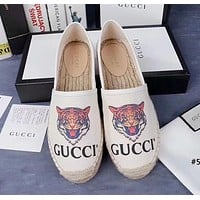 GUCCI tide brand female models wild one pedal casual shoes canvas shoes fisherman shoes #3