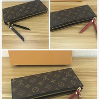 Best quality LV Louis Vuitton women men Monogram Giant Micro Pochette Accessories Voyage lattice Brazza zippy wallet purse bucket coin card make up bags pouches handbag brown black pink red blue green