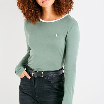 EDALE LONG SLEEVE RINGER T-SHIRT