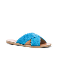 Ancient Greek Sandals Terry Cloth Thais Sandals in Turquoise | FWRD