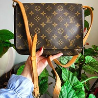 Onewel Louis Vuitton LV Women Leather Fashion Shoulder Bag Crossbody Satchel