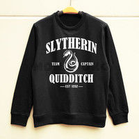 S M L -- Slytherin Shirts Harry Potter Shirts Slytherin Quidditch Sweatshirt Jumpers Long Sleeve Sweater Unisex Shirt Women Shirt Men Shirt