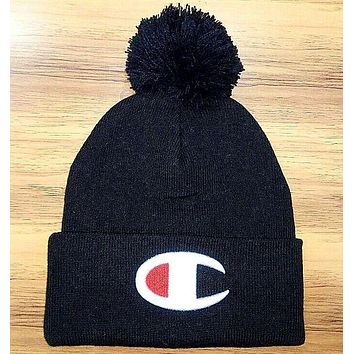 Champion : fashion men's and women's knitted cap hat black I