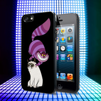 Cheshire Cat and Grumpy Cat iPhone 4, 4S, 5, 5C, 5S Samsung Galaxy S2, S3, S4 Case