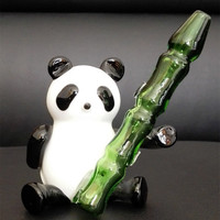 2016 NEW glass smoking pipes Creative Panda style glass pipes glass pipe height 11 cm