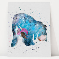 Eeyore DISNEY, Winnie the Pooh - Art Print, Watercolor Print, poster