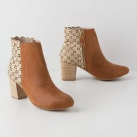 Kenna Cutout Booties by Miss Albright Sand 8 Boots