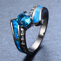 #Blue #Opal #Aquamarine #Ring #sterlingsilver #March #birthstone #allpurposestone #healingstone #blackgoldfilled #preciousstone #jewelry #accessory #attractive #trendy #fashinable #fabulous #onlineshopping #atperrys #freeworldwideshipping #formal #casual