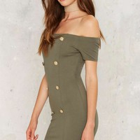 You Know the Drill Bodycon Dress