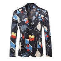 Men Single Breasted Blazers Dress Suits Jaqueta Masculina Men's Casual Slim Fit Long Sleeved Blazer Terno Masculino BL