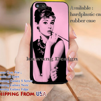 Big Star Audrey Hepburn iPhone 6s 6 6s+ 5c 5s Cases Samsung Galaxy s5 s6 Edge+ NOTE 5 4 3 #movie #actrees #adh dl12