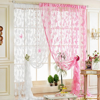 Butterfly Pattern Tassel String Curtain Divider Scarf  Window Door Room Fancy Curtain = 1958214724