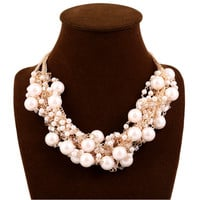 Retro Mixed Color Pearl Necklace