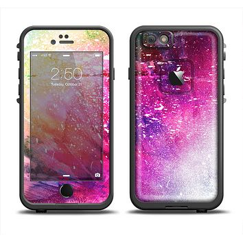 The Abstract Neon Paint Explosion Skin Set for the Apple iPhone 6 LifeProof Fre Case