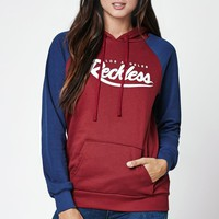 Young & Reckless Big R Script Raglan Pullover Hoodie - Womens Hoodie - Red
