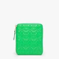 Comme des Garcons / Embossed Box Wallet in Green