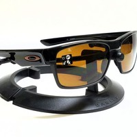 New Authentic OAKLEY TWOFACE OO9189-03 Polished Black/Dark Bronze Sunglasses