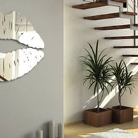 Lips Mirror resin wall mirror :  Dezign With a Z, Reusable wall decals