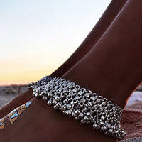 Silver Round Bell Chain Anklet – Lookbook Store