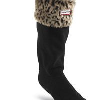 Leopard Cuff Welly Socks | Hunter Boot Ltd