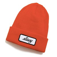 Patch Cuff Beanie Orange