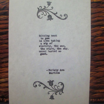 First anniversary paper gift Eternity love poem typed onto cotton paper gifts for men women husband wife 1st anniversary present