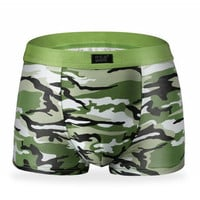 New 2017 Printed Underwear Men's Boxers Cueca Shorts Sexy Mens Underpants Male Boxer Military Pattern Army Underwear Boxer