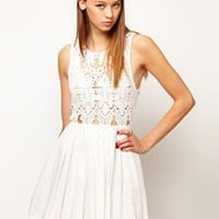 Alice McCall Anais Dress In Silk Cotton With Cutwork Bodice at asos.com