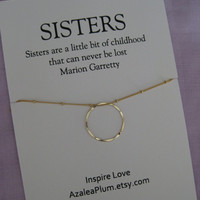 SISTERS Necklace. Sisters GOLD Eternity Circle Necklace. 50TH Birthday Sisters Necklace. Maid of honor. 4 Sisters Necklace.  3 Sisters Gift