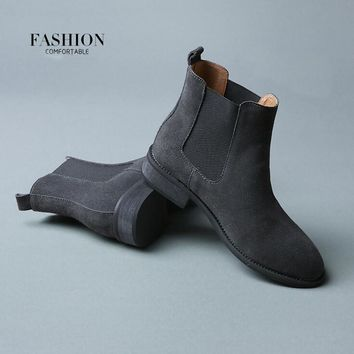 Winter Chelsea Genuine Leather Women Boots Matte Platform Flat Women's Boot Shoes Black Grey Brown Ankle Boot Size 40 ZK2.5
