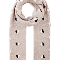 Chinti & Parker - Cashmere Queen of Hearts Scarf