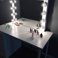 XL vanity mirror Perfect for Ikea Vanity(Bulbs not included)