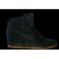 Dunks - Mail In - Black Rhinestone Nike Dunk Wedge Sneakers