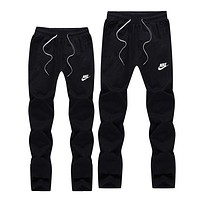 NIKE Women Men Lover Casual Pants Trousers Sweatpants Black I