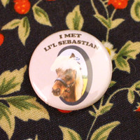 "Li'l Sebastian 1"" Button Pinback Parks and Recreation Rec Pawnee Lil"