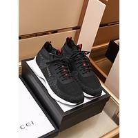 Gucci2021 Men Fashion Boots fashionable Casual leather Breathable Sneakers Running Shoes08170ff