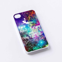 Peter Pan Quote nebula iPhone 4/4S, 5/5S, 5C,6,6plus,and Samsung s3,s4,s5,s6