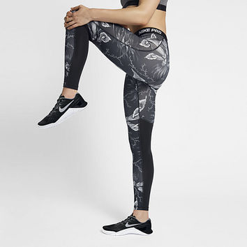 The Nike Pro Women's Printed Training Tights.