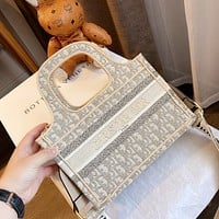 Dior New fashion more letter canvas shoulder bag handbag crossbody bag