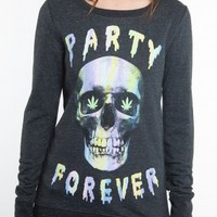 Glamour Kills Clothing - GIRLS DEATH OF THE PARTY LONGSLEEVE CREW