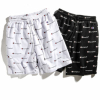 Champion 2018 Summer Printed Trousers Women Shorts Casual Pants F0232-1