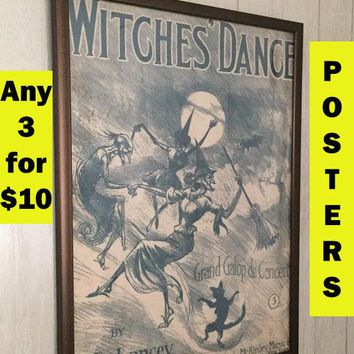 Witches broom home & living witches wall decor Witches hat wall decor salem witch wall decor black cat decor Halloween witch home and living