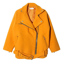 Boxy Rider Jacket (Yellow) | STYLENANDA