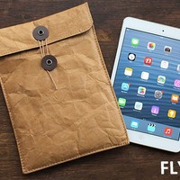 Strapya World : Fly Bag Crumbled Type iPad Case (Brown/M)